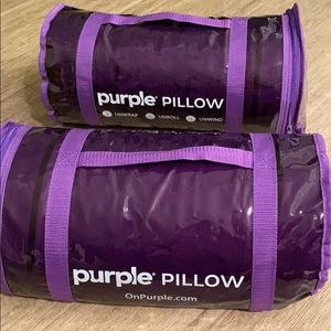 Two Purple Pillows. Never been used.